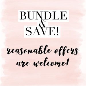 I love reasonable offers!! Bundle to save!